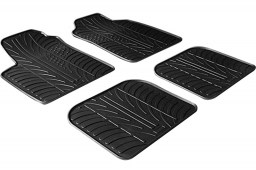 Fiat Panda II 2003-2012 5-door hatchback car mats set anti-slip Rubbasol rubber (FIA1PAFR)