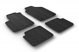 Fiat 500 2013-present 3-door hatchback car mats set anti-slip Rubbasol rubber (FIA250FR)