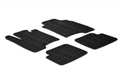 Fiat Panda III 2012-2015 5-door hatchback car mats set anti-slip Rubbasol rubber (FIA3PAFR)