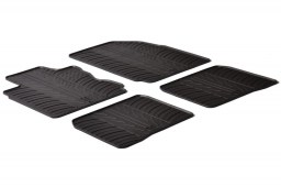 Fiat Panda III 2012-2015 5-door hatchback car mats set anti-slip Rubbasol rubber (FIA4PAFR)