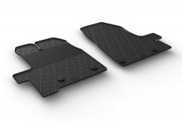 Ford Tourneo Custom 2012-present car mats set anti-slip Rubbasol rubber (FOR2TOFR)