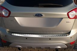 Ford Kuga I 2008-2012 rear bumper protector stainless steel (FOR3KUBP) (1)