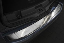 Ford S-Max II 2015-> rear bumper protector stainless steel (FOR3SMBP) (1)
