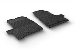 Ford Transit Custom 2012-2016 car mats set anti-slip Rubbasol rubber (FOR3TRFR)
