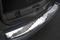 Ford S-Max II 2015-> rear bumper protector stainless steel high gloss (FOR4SMBP) (1)