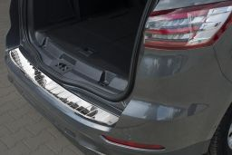 Ford S-Max II 2015-> rear bumper protector stainless steel high gloss (FOR4SMBP) (2)