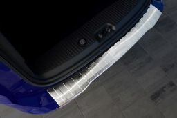 Ford Transit & Tourneo Courier 2014-> rear bumper protector stainless steel (FOR5TOBP) (1)