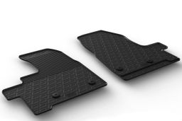 Ford Transit Custom 2018-present car mat set anti-slip Rubbasol rubber (FOR5TRFR) (1)