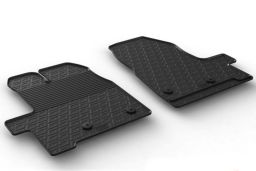 Ford Transit Custom 2018-present car mat set anti-slip Rubbasol rubber (FOR6TRFR) (1)