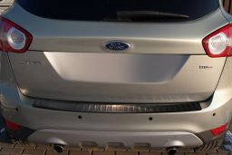 Ford Kuga I 2008-2012 rear bumper protector stainless steel black (FOR9KUBP) (1)