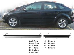 Ford Focus '05-'11 side protection set