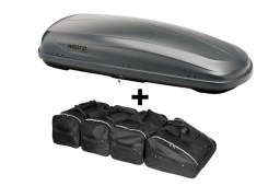 Hapro Traxer 6.6 Titanium roof box with Car-Bags.com roof box bag set (HAP28760-BB1)