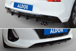 Hyundai i30 (PD) 2017- 5-door rear diffuser + front mask piano black (HYU1I3SP)