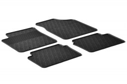Hyundai i10 (PA) 2008-2013 5-door hatchback car mats set anti-slip Rubbasol rubber (HYU2I1FR)