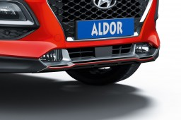 Hyundai Kona (OS) 2017-present skid plate front Piano Black with red striping (HYU2KOSPBS) (1)