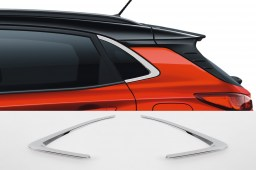 Hyundai Kona (OS) 2017-present chrome C-pillar window frame trim 2 pcs (HYU3KOM)