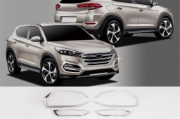 Hyundai Tucson (TL) 2015- chrome foglamp masks front + rear (HYU4TUM)