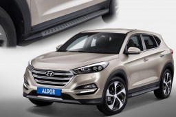 Side steps Hyundai Tucson (TL) 2015-present brushed anthracite (HYU4TUSI-B) (1)
