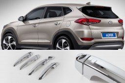 Hyundai Tucson (TL) 2015- chrome door catch - chromen deurgreep - Chrom Türgriff - poignées chromées (HYU7TUM)