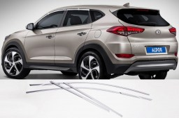Hyundai Tucson (TL) 2015- chrome window frame - chromen ruitstrip - Chrom Fensterleisten - moulures chromées vitres (HYU5TUM)