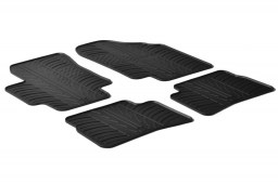 Kia Rio (JB) 2005-2011 4 & 5-door car mats set anti-slip Rubbasol rubber (KIA1RIFR)