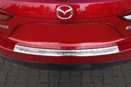Mazda Mazda3 (BM) 2013-> 5-door hatchback rear bumper protector stainless steel (MAZ2M3BP) (3)