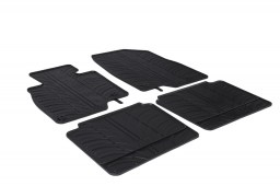 Mazda6 (GJ) 2012-present 4-door & wagon car mats set anti-slip Rubbasol rubber (MAZ2M6FR)
