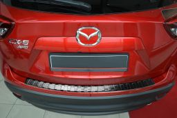 Mazda CX-5 (KE) 2012-2017 rear bumper protector stainless steel black (MAZ5C5BP) (1)