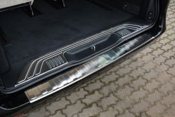 Mercedes-Benz Vito - V-Class (W447) 2014-> rear bumper protector stainless steel (MB10VIBP) (1)