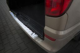 Mercedes-Benz Vito - Viano (W639) 2003-2014 rear bumper protector stainless steel high gloss (MB12VIBP) (1)