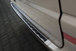Mercedes-Benz Vito - Viano (W639) 2003-2014 rear bumper protector stainless steel black (MB14VIBP) (1)