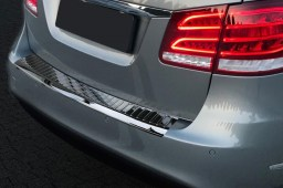 Mercedes-Benz E-Class estate (S212) 2013-2016 wagon rear bumper protector stainless steel high gloss black (MB30EKBP)