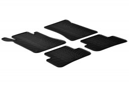 Mercedes-Benz C-Class estate (S203) 2001-2007 wagon car mats set anti-slip Rubbasol rubber (MB6CKFR)