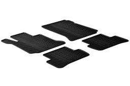 Mercedes-Benz C-Class estate (S204) 2007-2014 wagon car mats set anti-slip Rubbasol rubber (MB7CKFR)