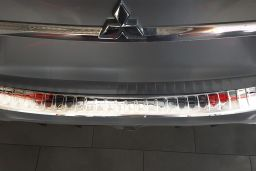 Mitsubishi ASX 2010-> rear bumper protector stainless steel high gloss (MIT10ASBP) (1)