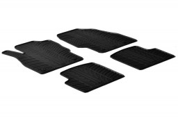 Opel Corsa D 2006-2014 3 & 5-door hatchback car mats set anti-slip Rubbasol rubber (OPE1COFR)