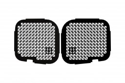 Opel Vivaro A 2001-2014 window guard set twin rear doors - black (OPE1VIWGB)
