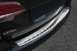 Opel Astra K Sports Tourer 2015-> wagon rear bumper protector stainless steel (OPE22ASBP) (1)
