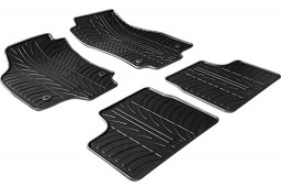 Opel Astra H 2004-2010 3 & 5-door & wagon car mats set anti-slip Rubbasol rubber (OPE2ASFR)