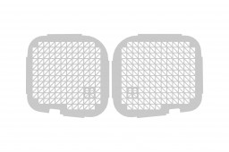 Opel Vivaro B 2014-present window guard set twin rear doors - white (OPE4VIWGW)