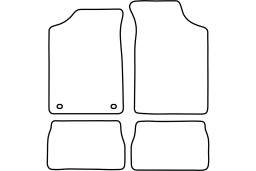 Peugeot 106 I 1991-1996 3d & 5d car mat set (PEU116MV)