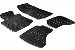 Peugeot 107 2005-2009 3 & 5-door hatchback car mats set anti-slip Rubbasol rubber (PEU117FR)