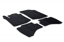 Peugeot 108 2014-present 3 & 5-door hatchback car mats set anti-slip Rubbasol rubber (PEU118FR)