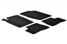 Peugeot 206 / 206 + 1998-2010 3 & 5-door hatchback car mats set anti-slip Rubbasol rubber (PEU126FR)