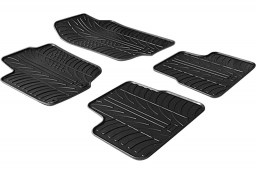 Peugeot 207 2006-2012 3 & 5-door hatchback car mats set anti-slip Rubbasol rubber (PEU127FR)