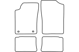 Peugeot 306 1993-2002 3d & 4d & 5d & wagon car mat set (PEU136MV)