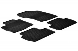 Peugeot 4007 2007-2012 car mats set anti-slip Rubbasol rubber (PEU140FR)