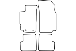 Peugeot 406 1995-2004 4d & wagon car mat set (PEU146MV)