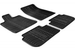 Peugeot 407 2004-2011 4-door saloon car mats set anti-slip Rubbasol rubber (PEU147FR)
