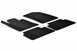 Peugeot 508 I 2010-2018 4-door saloon car mats set anti-slip Rubbasol rubber (PEU158FR)